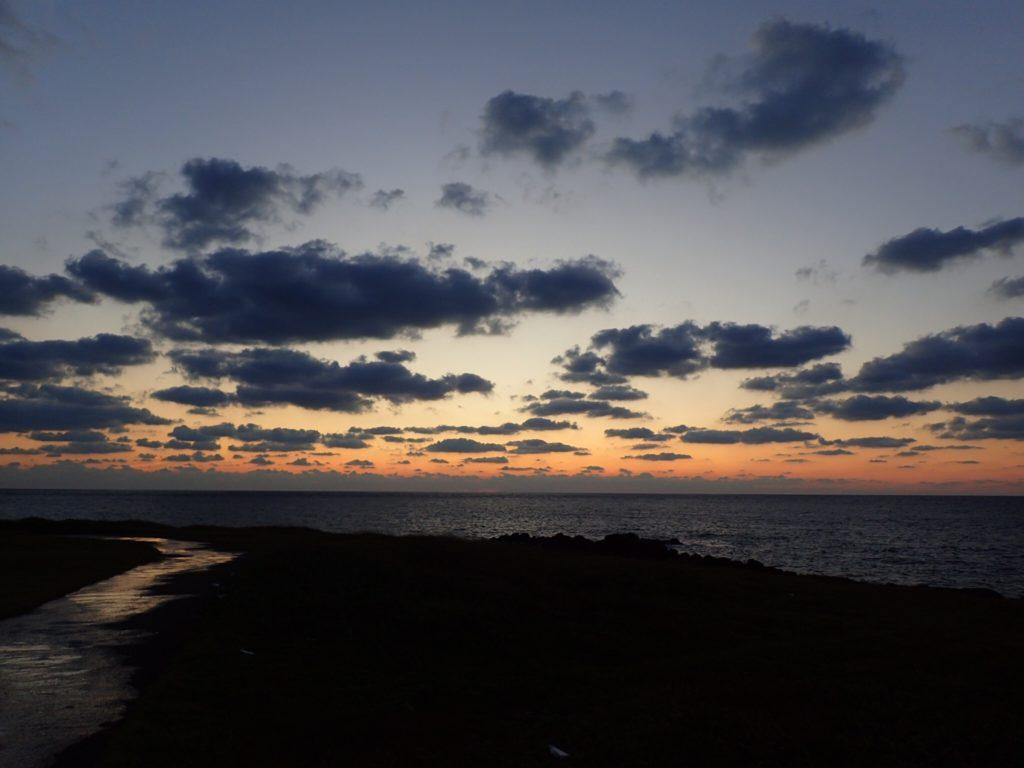 五島 9月の夕焼け